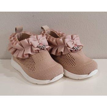 Babywalker Babywalker Sneakers met Ruffle Nude
