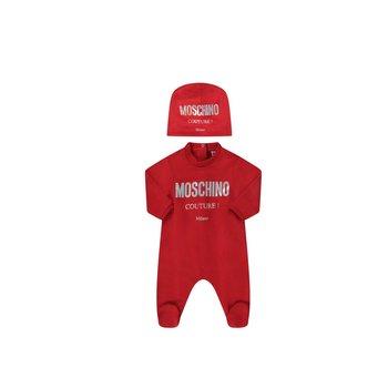 Moschino Moschino Babypakje met Mutsje Couture Rood