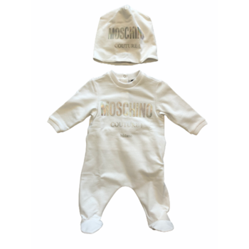 Moschino Moschino Babypakje met Mutsje Couture Wit
