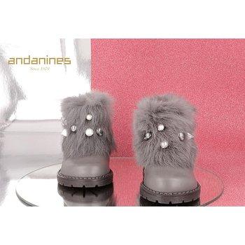 Andanines Andanines Laarzen met Faux Fur Grijs