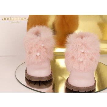 Andanines Andanines Laarzen met Faux Fur Roze