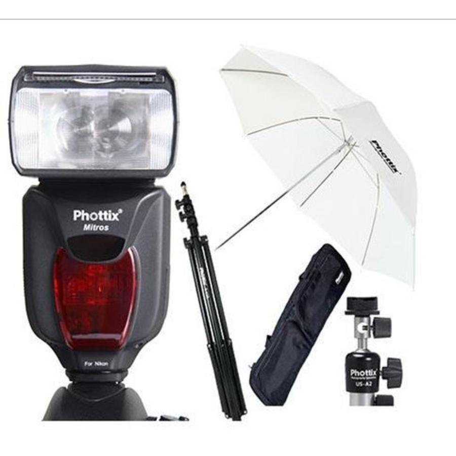 Phottix Mitros TTL Transceiver Flitser Kit voor Nikon