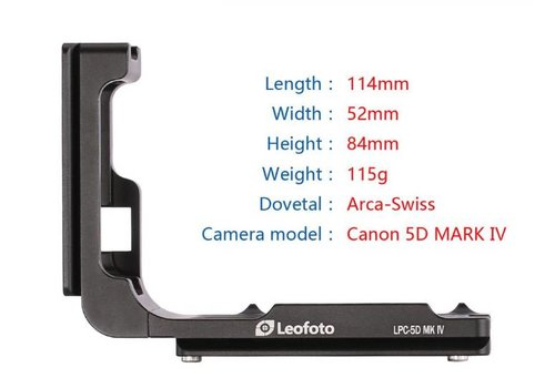 Leofoto LPC-5D MK IV L-Bracket