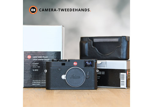 Leica M10 + Leather Protector, Accu, Pouch