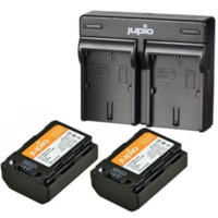 2x Battery NP-FZ100 2040mAh + USB Dual Charger -- Incl. BTW