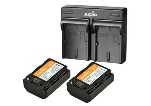 Jupio Duo Charger + 2x FZ-100 accu voor Sony A9