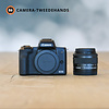 Canon Gereserveerd -- Canon EOS M50 + 15-45mm 3.5-6.3 Zwart -- Outlet