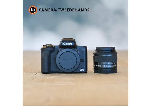 Gereserveerd -- Canon EOS M50 + 15-45mm 3.5-6.3 Zwart -- Outlet
