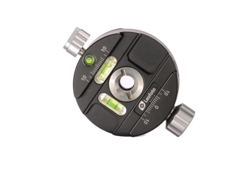 Leofoto PAN-0 panning clamp met snelkoppelingsplaat QP-70