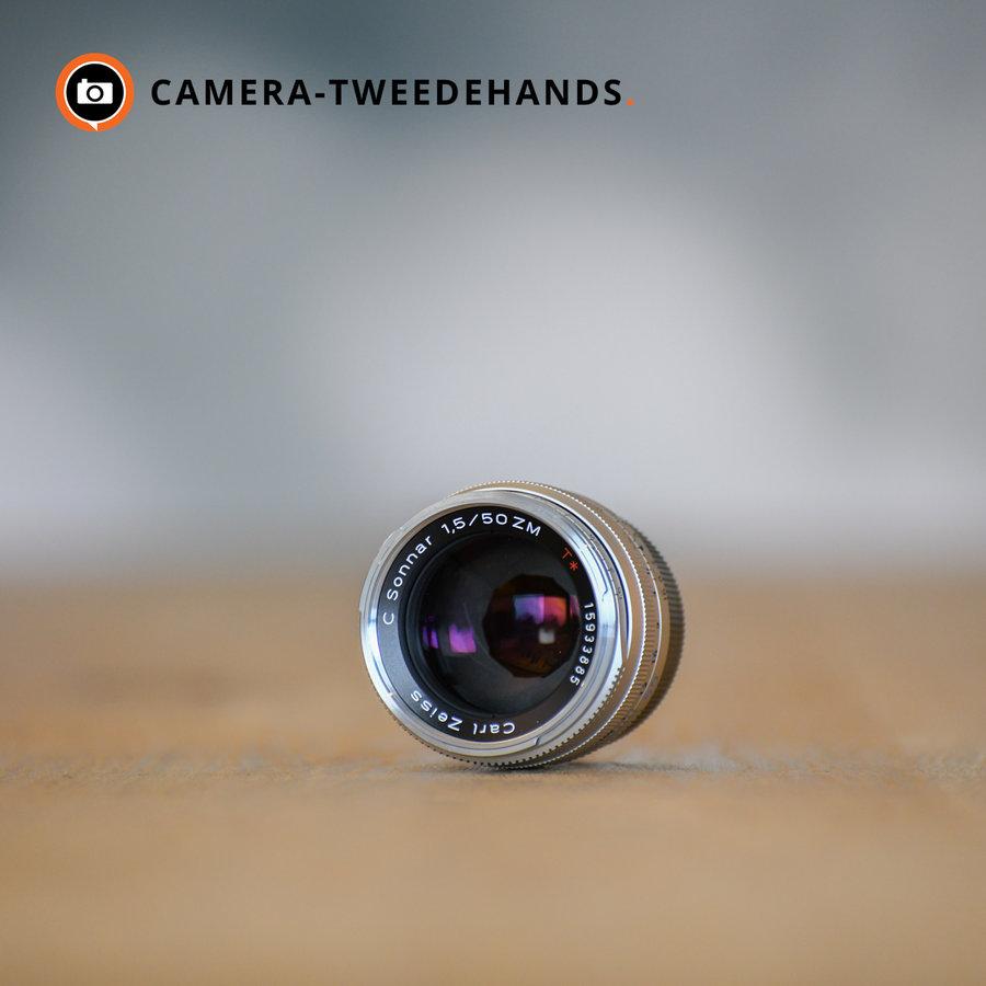 Carl Zeiss C-Sonnar-ZM 50mm 1.5 T* Zilver Leica-M