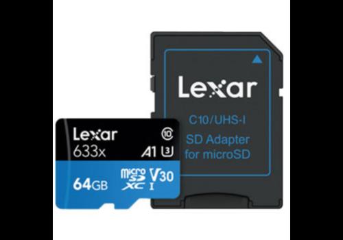 Lexar High Performance 64 GB micro SD 633x UHS-I kaarten