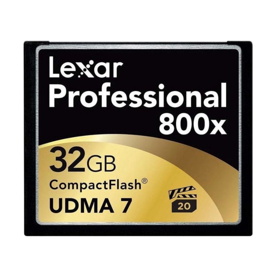 Lexar CF Pro 800x UDMA 7 32GB 120 MB/sec 4K Ready