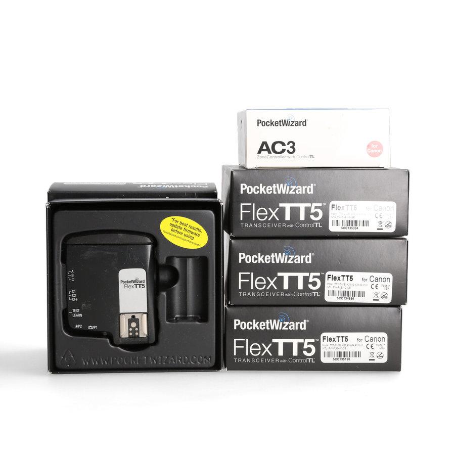 4x PocketWizard FlexTT5 + AC3