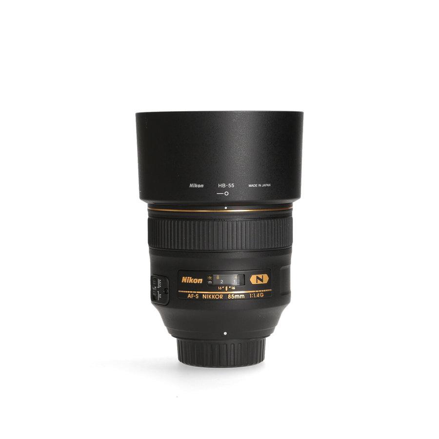 Nikon 85mm 1.4 G AF-S NANO (Nieuwstaat)