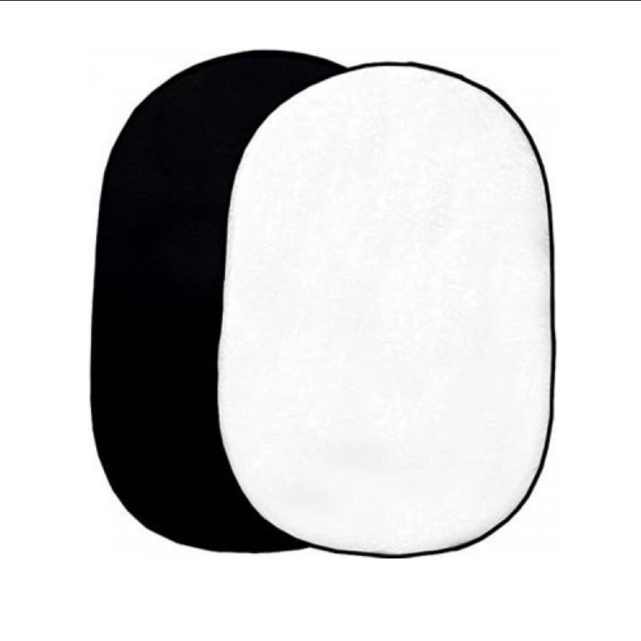 Bresser BR-3 Opvouwbare achtergrond 180 x 240 cm 2-zijdig zwart/wit