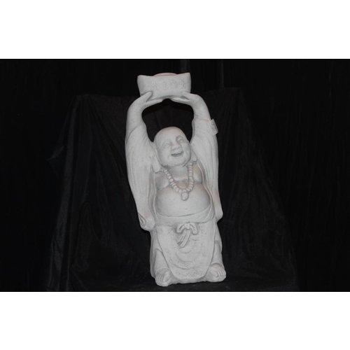 Boeddha met de handen omhoog