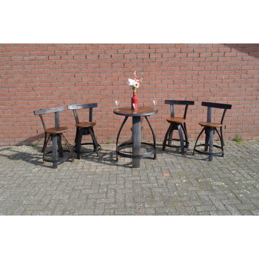 Bistro tafeltje met 4 stoelen-3