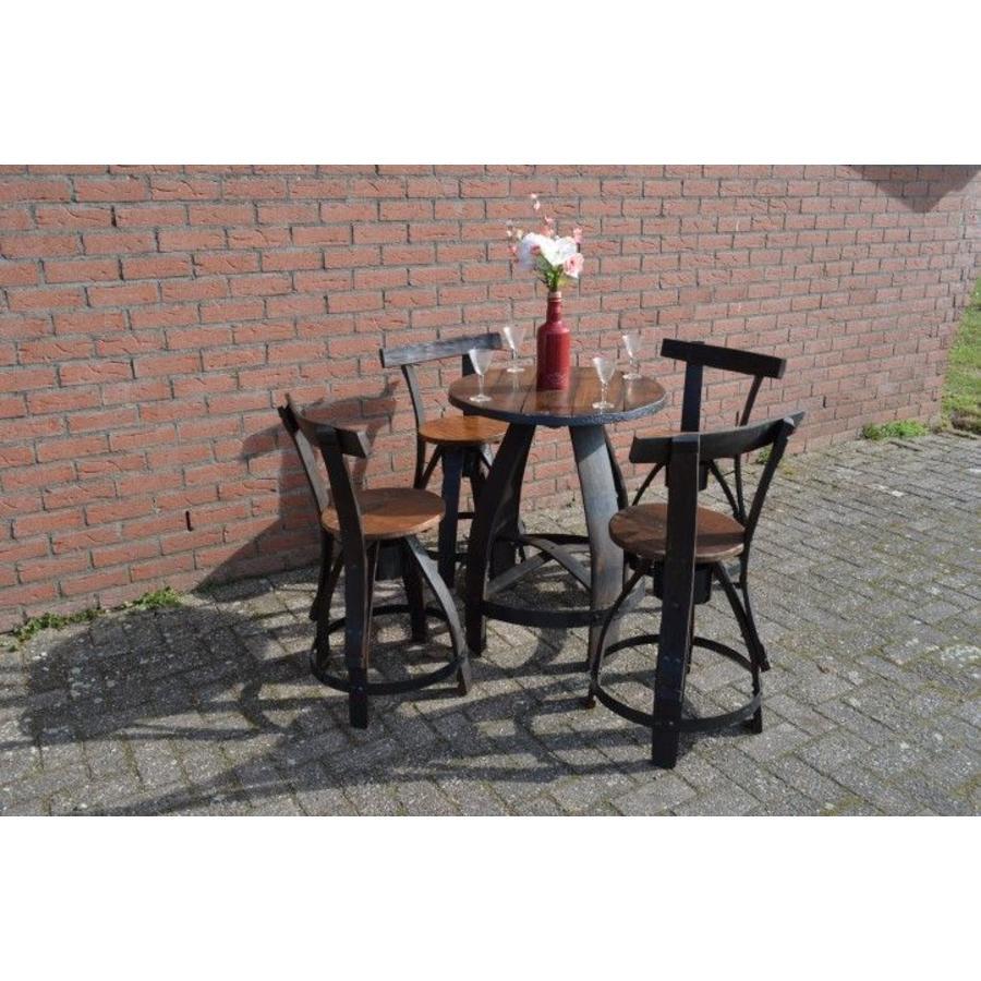 Bistro tafeltje met 4 stoelen-5