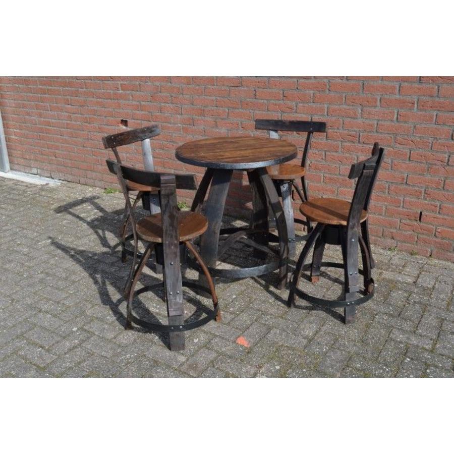 Bistro tafeltje met 4 stoelen-4
