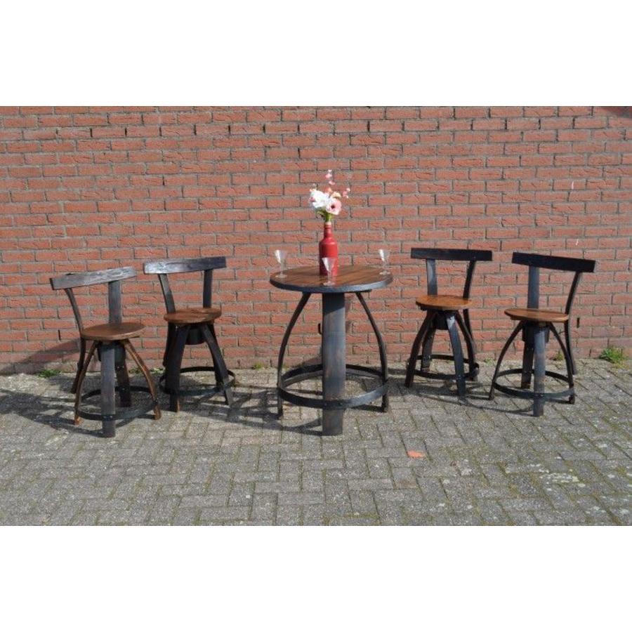 Bistro tafeltje met 4 stoelen-9