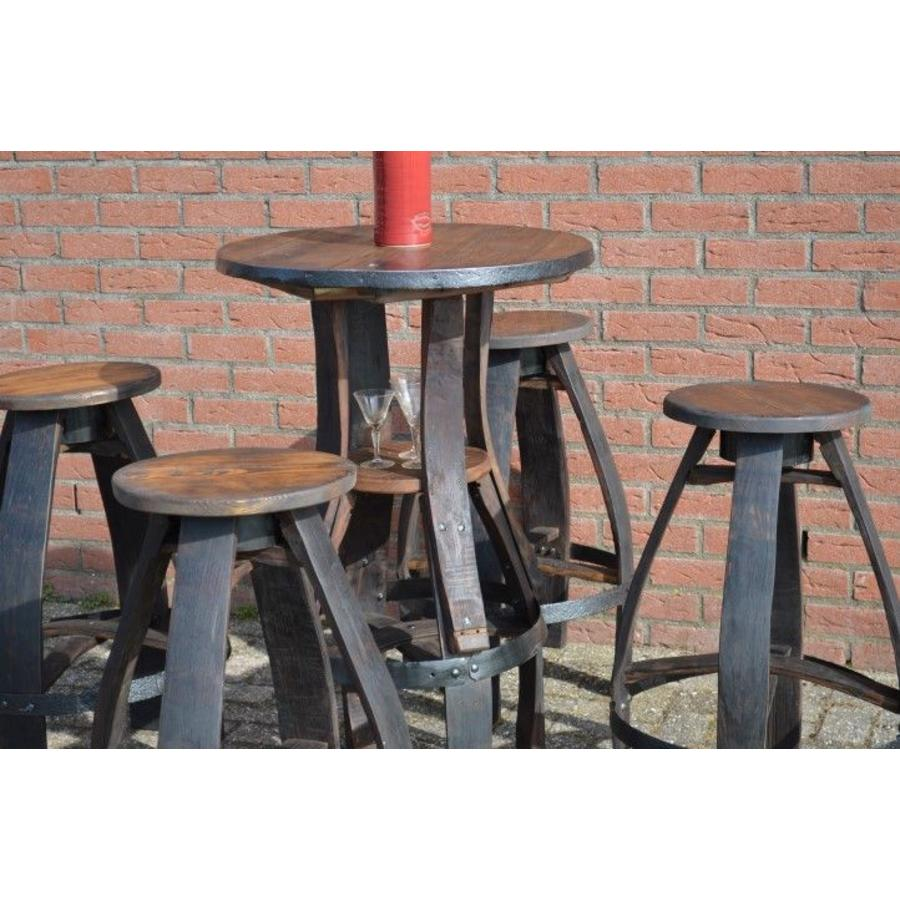 Bistro sta tafel met 4 krukken-5