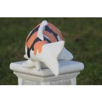 thumb-Showa koi karper in oranje kleur-8