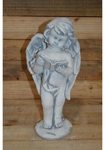 Een staande engel met een boek