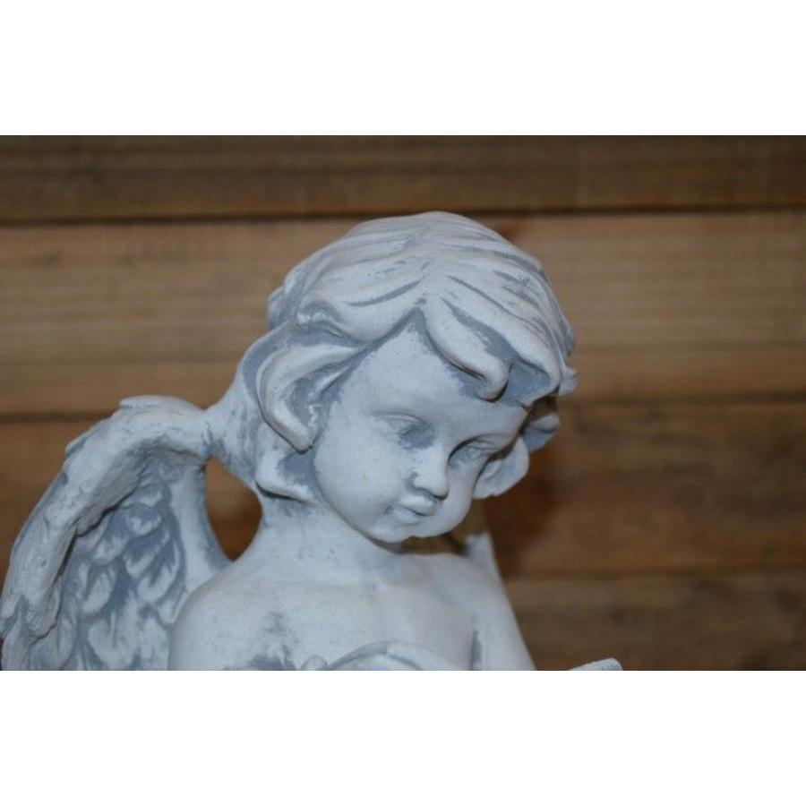 Een staande engel met een boek-4