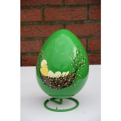 Beschilderd decoratie ei (groen)