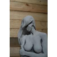 thumb-Naakte vrouw op voetstuk-4