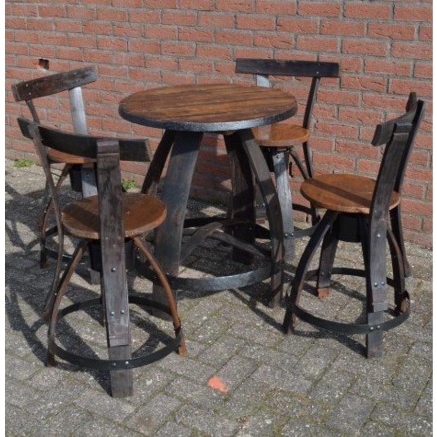 Bistro tafeltje met 4 stoelen-2