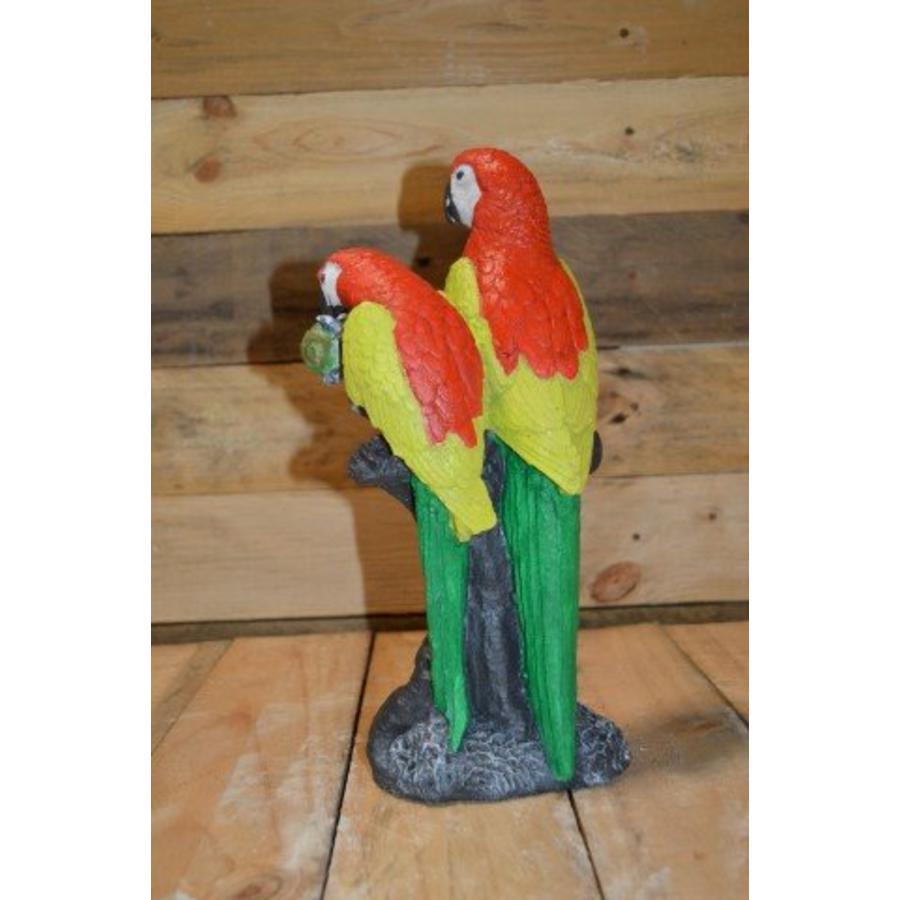 2 papegaaien op boom ( H 30 cm)