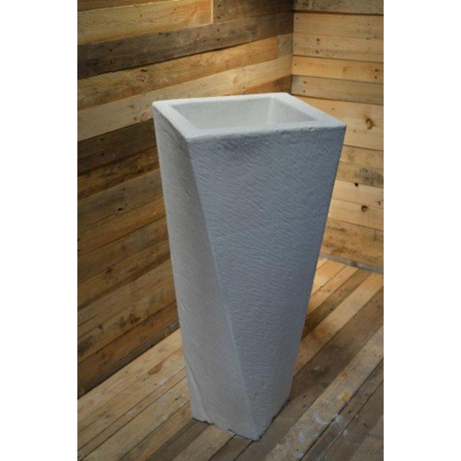 Bloempot getordeerd ( H 103 cm )