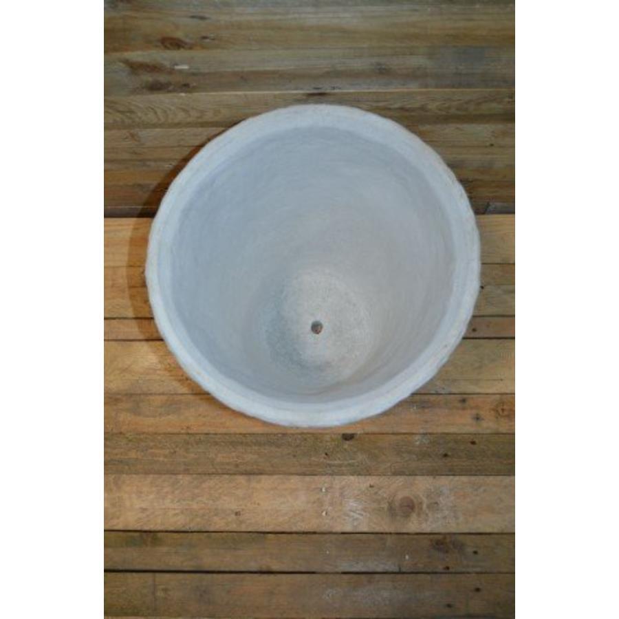 Bloempot rond vlechtwerk ( H 46 cm )