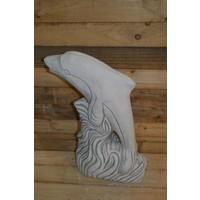 Dolfijn met slang ( H 55 cm)