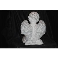 engel zittend op een boek ( H 32 cm)
