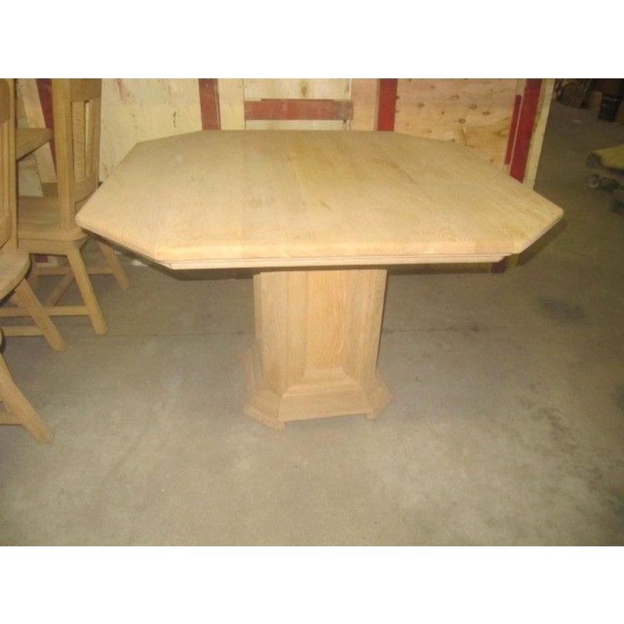 Eettafel massief eiken 8 hoekig-1