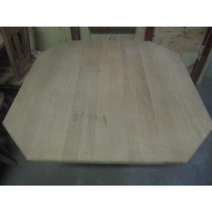 Eettafel massief eiken 8 hoekig-3