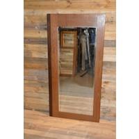 thumb-Eiken kastdeur met een facet geslepen spiegel-1