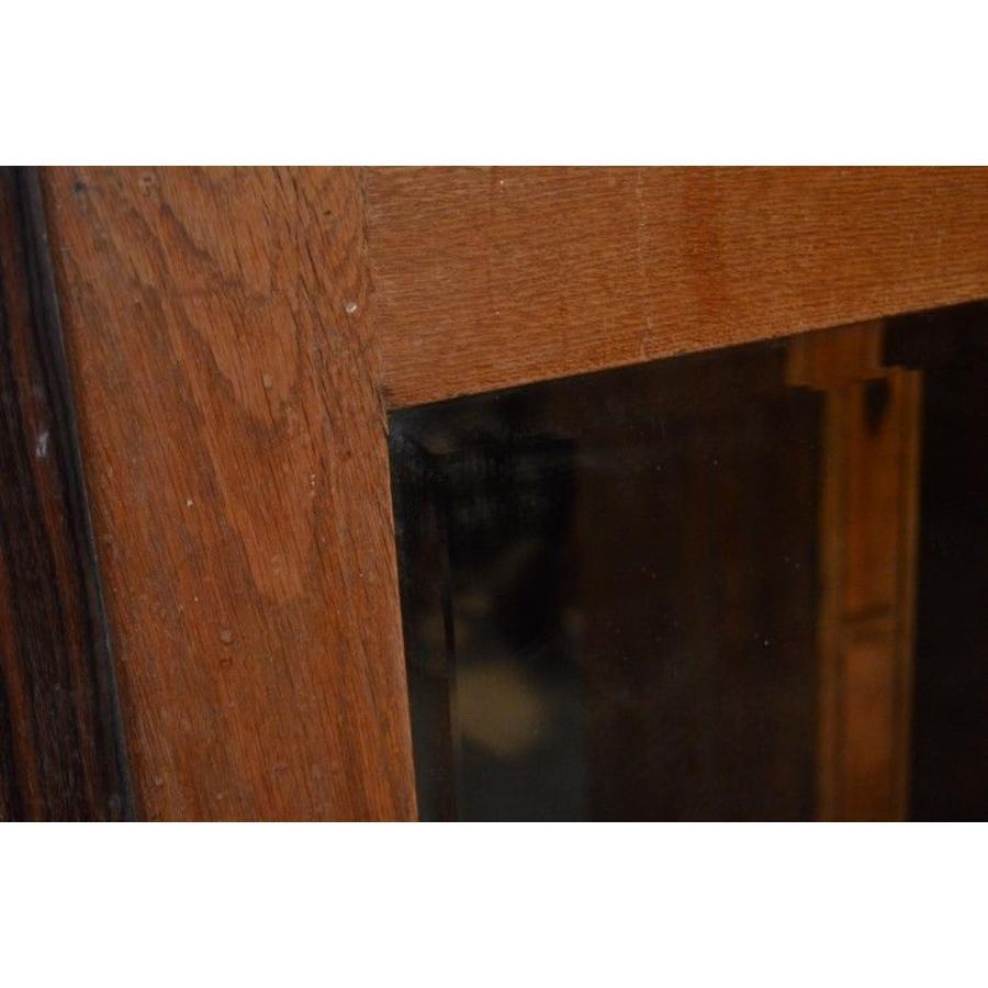 Eiken kastdeur met een facet geslepen spiegel-3