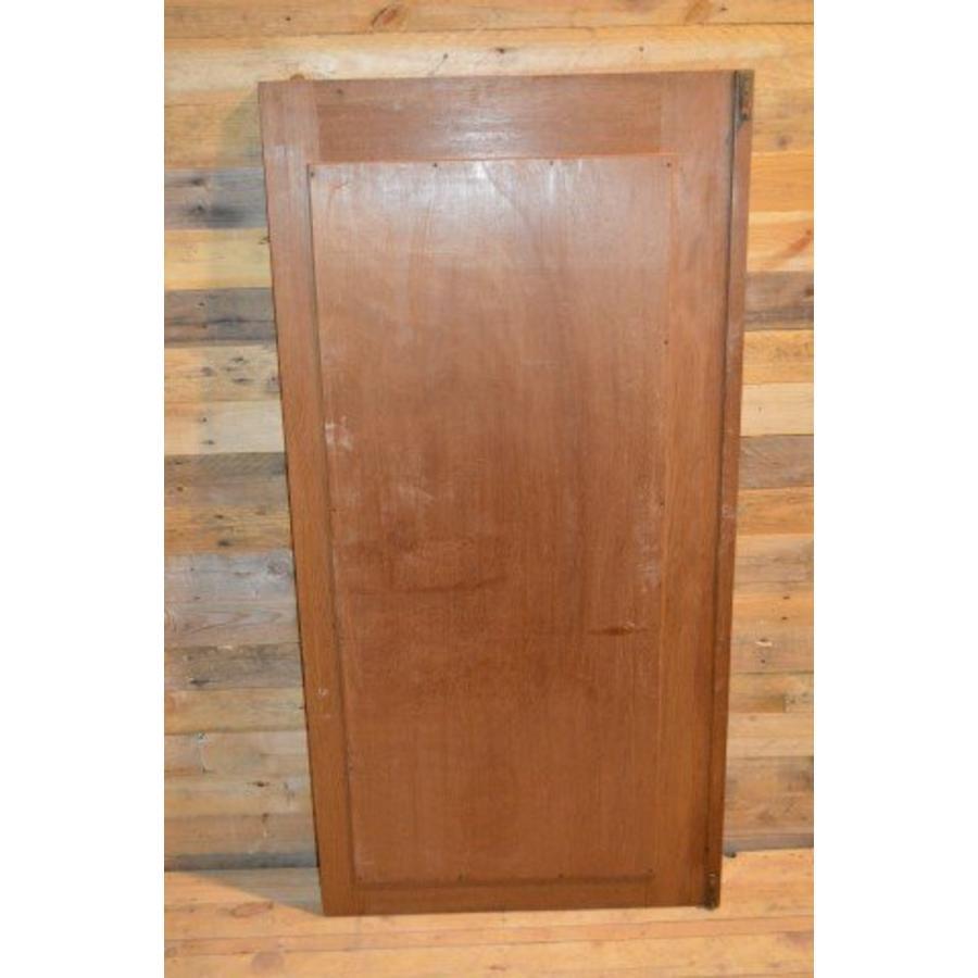 Eiken kastdeur met een facet geslepen spiegel-4
