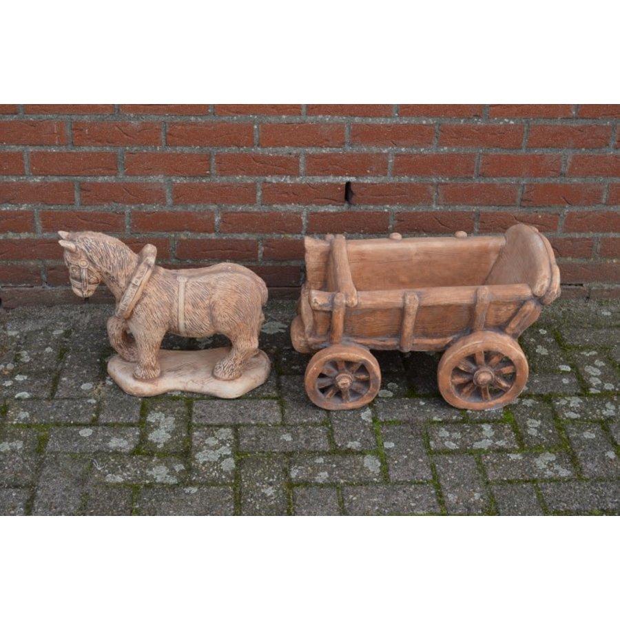 Belgisch trekpaard met kar-2