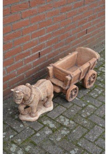 Belgisch trekpaard met kar