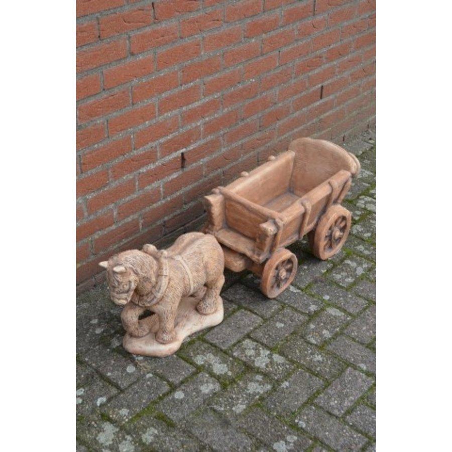 Belgisch trekpaard met kar-1