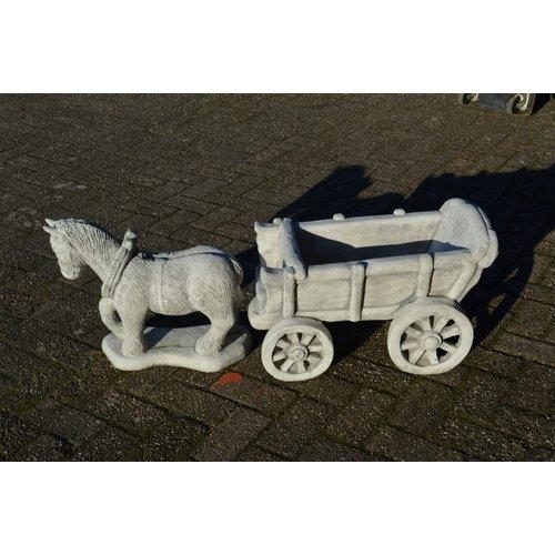 Belgisch trekpaard met wagen voor binnen en buiten