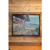 thumb-Schilderij van een puzzel Tiroler huis-1