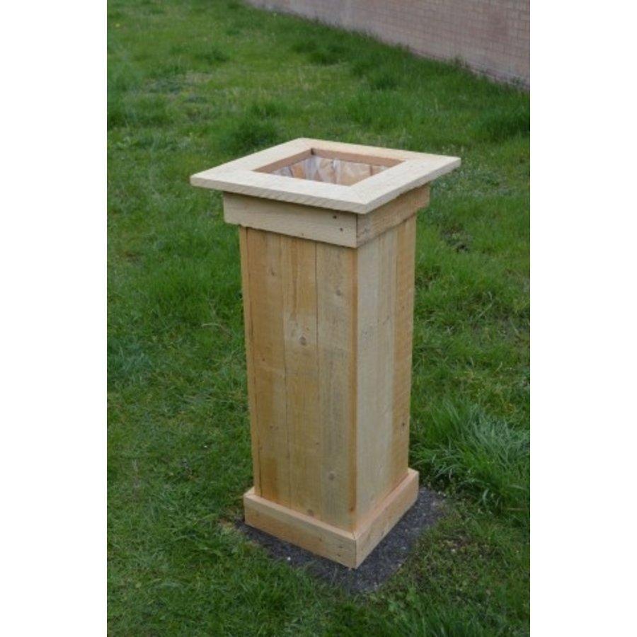 Bloembak gemaakt van pallethout-1