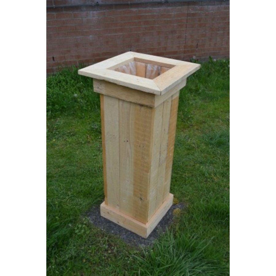 Bloembak gemaakt van pallethout-2