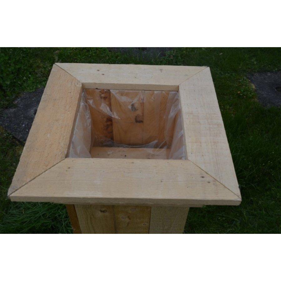 Bloembak gemaakt van pallethout-4