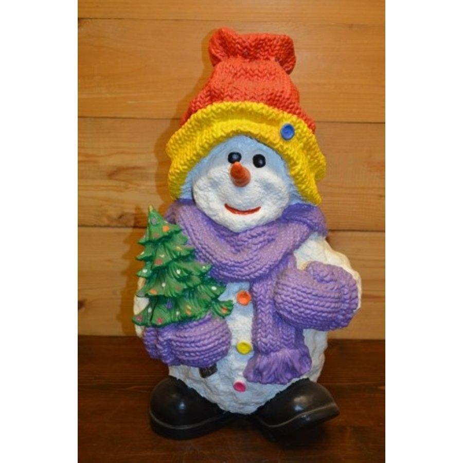 Sneeuwman Rode muts leuk voor de kerst-1